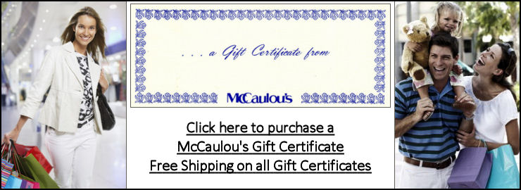 Click here to purchase a McCaulou's gift certificate