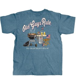 Old Guys Rule T-Shirt - Still Grillin' in Stone Blue