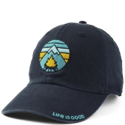 Life is Good Cap - Campfire in Black
