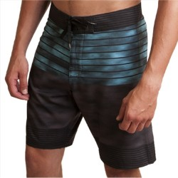 Micros Boardshort with Stretch - Turquoise Tie Dye Stripe