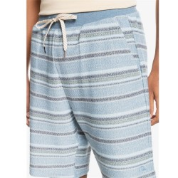 Quiksilver French Terry Short - Blue Stripe
