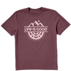 Life is Good Short Sleeve T-Shirt - Positive Lifestyle in Mahogany