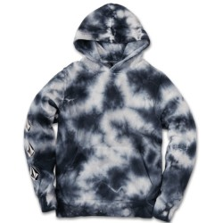 Boys 8 to 20 Volcom Hooded Pullover - Blue Tie Dye