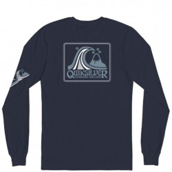 Boys 8 to 20 Quiksilver Long Sleeve T-Shirt - Navy Heather