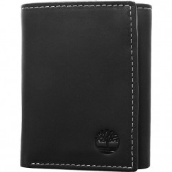 Timberland Trifold Leather Wallet - Black