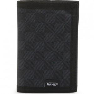 Boys 8 to 20 Vans Trifold Wallet - Black/Charcoal Checkered