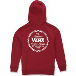 Boys 8 to 20 Vans Hooded Pullover - Pomegranate