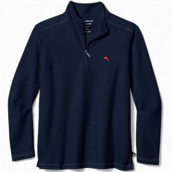 Tommy Bahama 1/4 Zip Polo Shirt- Blue Note