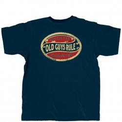 Old Guys Rule T-Shirt - Better Oval in Navy