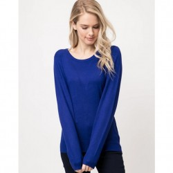 Long Sleeve Pullover Sweater - Royal Blue