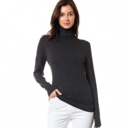 Classic Turtleneck Sweater - Charcoal