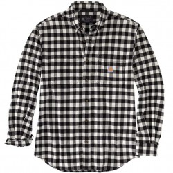 Carhartt Flannel Shirt With Stretch - Black Check
