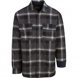 North River Flannel Jacket with Micro Fleece Lining - Dark Charcoal Plaid