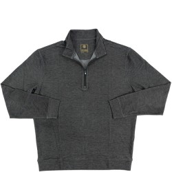 FX Fusion 1/4 Zip Stretch Knit Pullover - Charcoal Heather