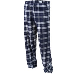 Boys 8 to 20 100% Cotton Flannel Pant - Navy/Silver