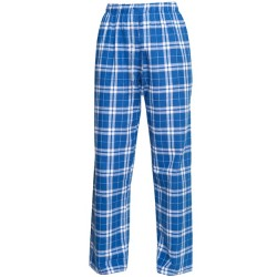 Boys 8 to 20 100% Cotton Flannel Pant - Royal/Silver