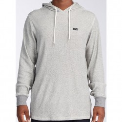 Billabong Hooded Thermal Pullover - Oatmeal