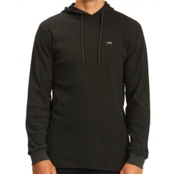 Billabong Hooded Thermal Pullover - Black Heather