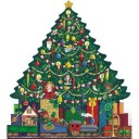 Byers Choice Wooden Advent Calendars Style AC02