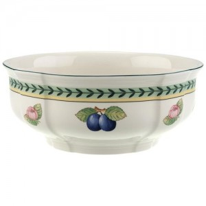 """Villeroy and Boch French Garden Fleurence Round Vegetable Bowl 8 ¼"""""""