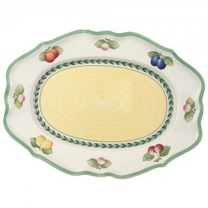 Villeroy and Boch French Garden Fleurence Oval platter 17 ¼""