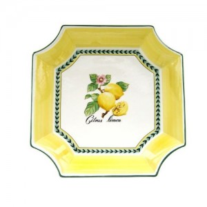 """Villeroy and Boch French Garden Fleurence Square bowl 12 ½"""""""