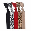 Emi-Jay 5 pack Hair Tie - Zebra Collection