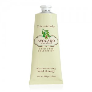 CRABTREE & EVELYN AVOCADO, OLIVE & BASIL ULTRA-MOISTURIZING HAND THERAPY