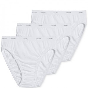 Jockey Classic French Cut Cotton Ladies Briefs - 3 pack Style #9480 - White