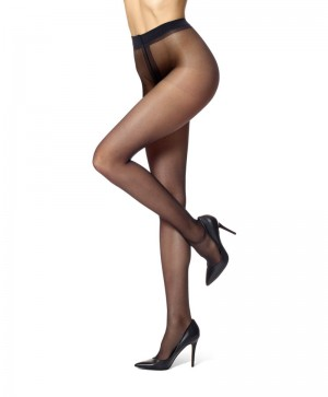HUE Essential Solutions Clear Control Pantyhose #5972N - Black
