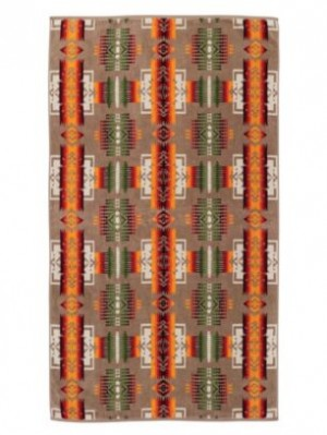 PENDLETON Spa Towel - Chief Joseph in Khaki
