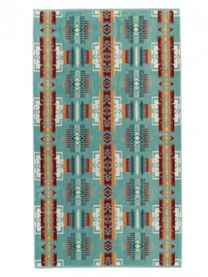PENDLETON Spa Towel - Chief Joseph in Aqua