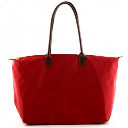 Joseph d'Arezzo Nylon Travel Tote - Red