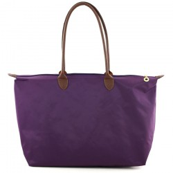 Joseph d'Arezzo Nylon Travel Tote #HD1293 - Purple