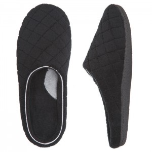 Dearfoams Microfiber Terry Clog - Women's Clogs Style #50228 - Black