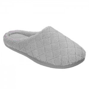 Dearfoams Microfiber Terry Clog - Women's Clogs Style #50228 - Medium Grey