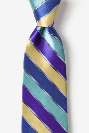 "Novelty Tie ""Know The Ropes"" - Blue - Style #AL301449"