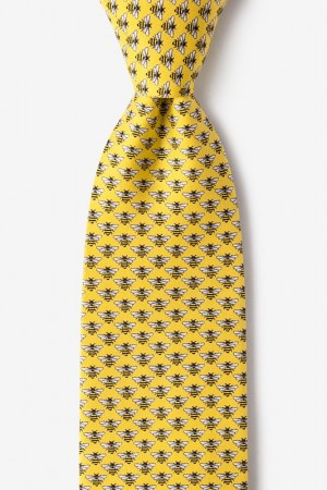 "Novelty Tie ""Micro Bees"" - Yellow - Style #AL300943"