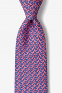 "Novelty Tie ""Micro Sharks"" - Pink - Style #AL300972"