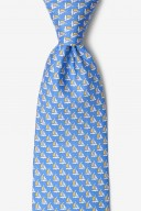 "Novelty Tie ""Micro Sailboats"" - Blue - Style #AL300851"