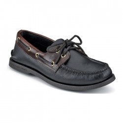 Sperry Men's Authentic Original 2-Eye Boat Shoe - Black Amaretto