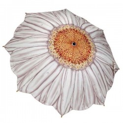 Galleria Umbrella - White Daisy