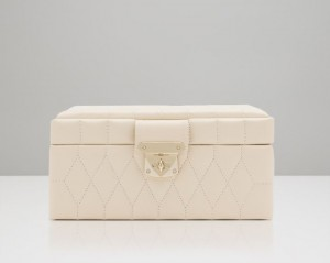 Wolf Designs Caroline Small Jewelry Case - Ivory - Best Seller