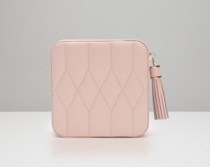 Wolf Designs Caroline Zip Travel Case - Rose Quartz - Best Seller