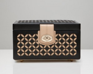 Wolf Designs Chloé Small Jewelry Box - Black - Best Seller