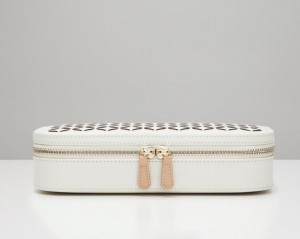 Wolf Designs Chloé Zip Jewelry Case - Ivory - Best Seller