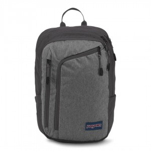 "Jansport ""Platform"" Laptop Backpack - Black White Herringbone"