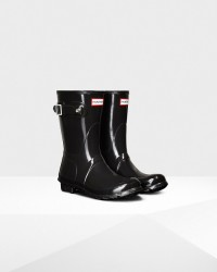 Hunter Women's Original Short Gloss Rain Boots - Black