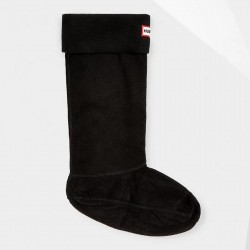 Hunter Original Tall Fleece Welly Boot Socks - Black