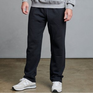Russell Athletic Men's Dri-Power Pocketed Sweatpants Open Bottom - Black